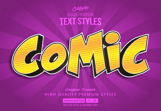 Gelber comic-textstil