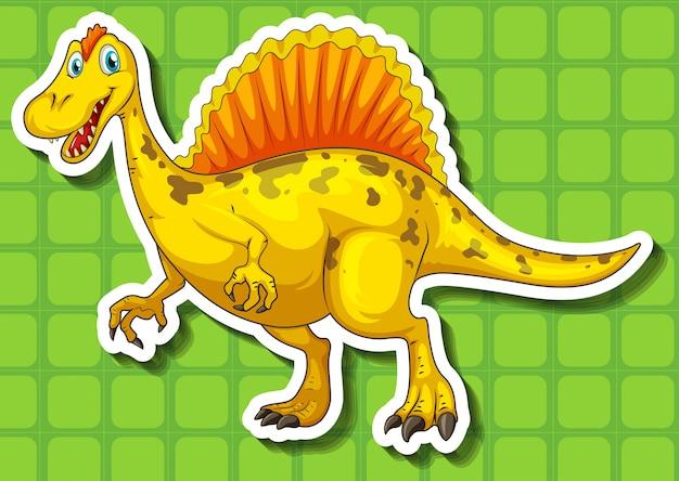 Gelber dinosaurier mit scharfen zähnen