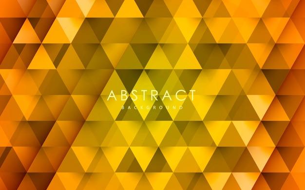 Gelber dreieckmuster-formhintergrund