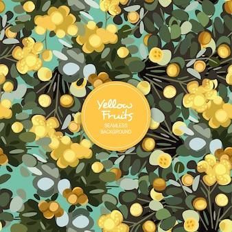 Gelber frucht-nahtloser hintergrund