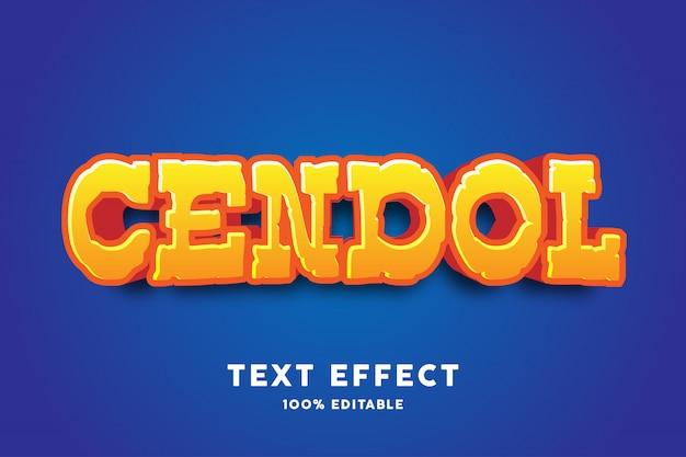 Gelber glatter effekt des textes 3d