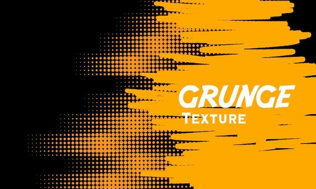 Gelber grunge-hintergrund mit halbton detailliert