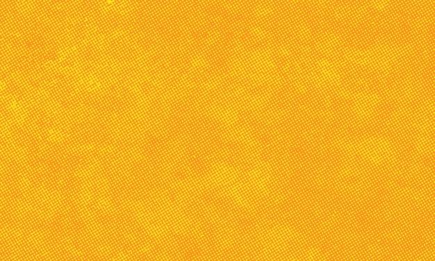 Gelber grunge-stil halbtonmuster hintergrund