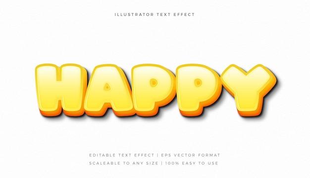 Gelber heller spaß-textstil-schrifteffekt