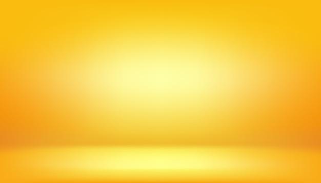 Gelber hintergrund, abstrakter steigungsstudioraum