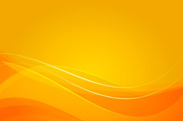 Gelber hintergrund mit dynamischen abstrakten formen