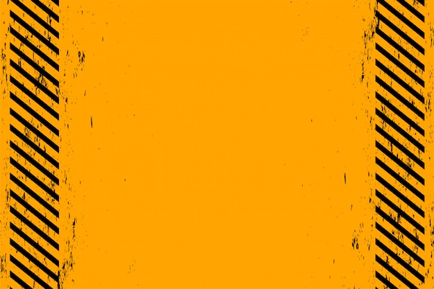 Gelber hintergrund mit schwarzen diagonalen grunge-streifen