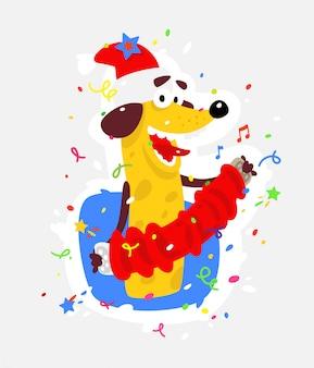 Gelber hund ist das symbol des chinesischen neujahrs.
