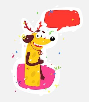 Gelber hund ist das symbol des neuen jahres.