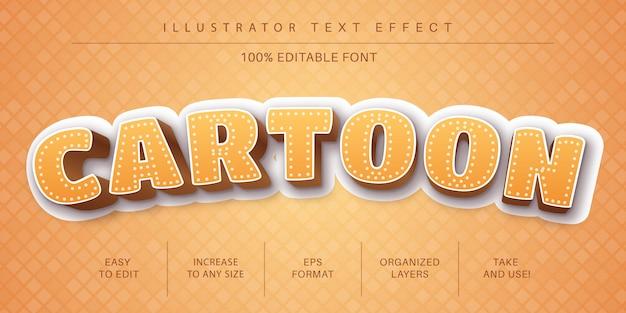 Gelber karikaturtextstil, schrifteffekt