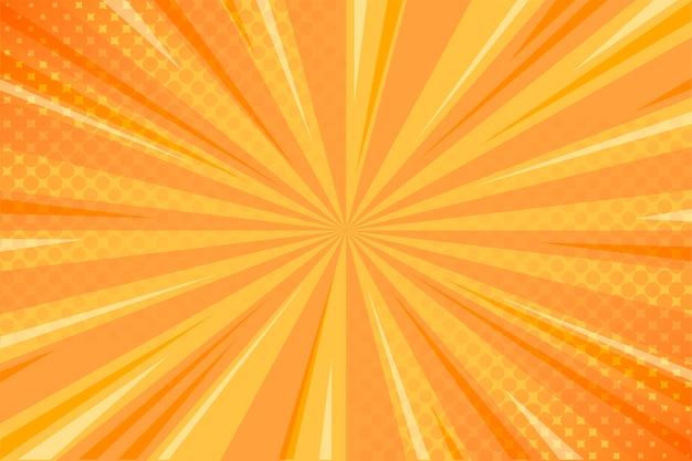 Gelber komischer hintergrund mit halbtonbild