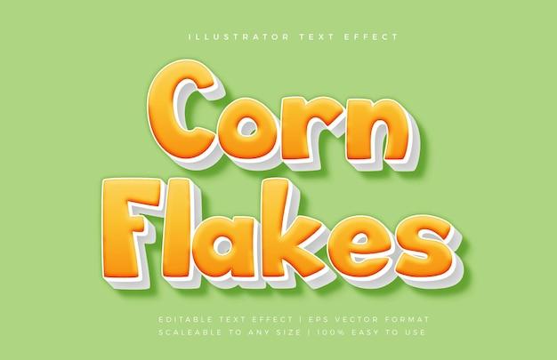 Gelber leckerer snack-textart-schriftart-effekt