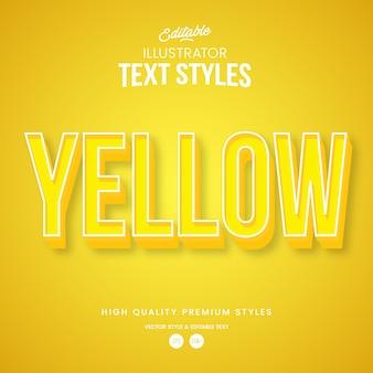 Gelber moderner abstrakter texteffekt bearbeitbarer grafikstil