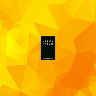 Gelber niedriger abstrakter polyhintergrund
