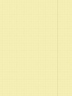 Gelber notizblock aus papier in einem käfig notizblock in einem käfig mit feldern