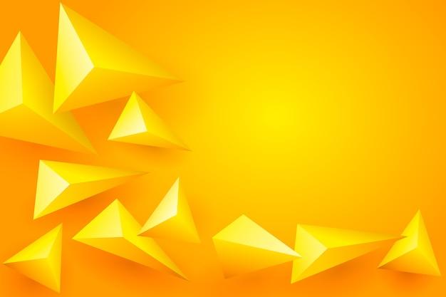 Gelber polygonaler hintergrund 3d