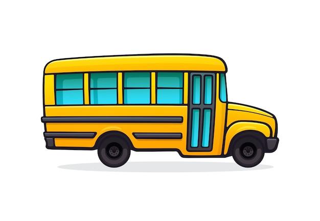 Gelber schulbus personenbeförderung für den transport der kinder zur schule zurück zur schule