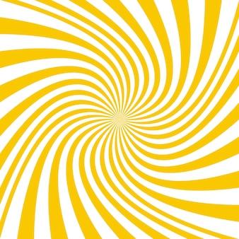 Gelber spirale hintergrund design