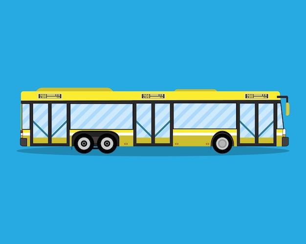 Gelber stadtbus. öffentliche verkehrsmittel