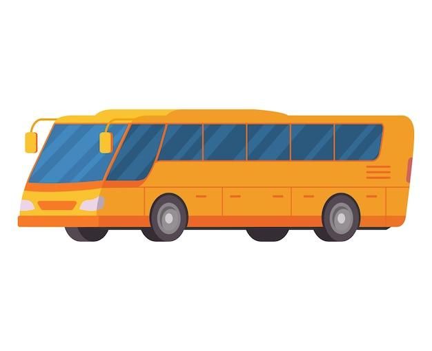 Gelber stadtbus öffentlicher verkehr touristenbus