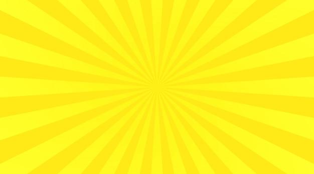 Gelber strahlenhintergrund