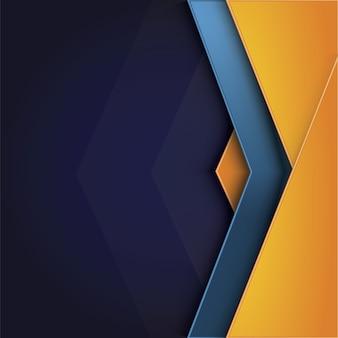 Gelber und blauer hintergrund