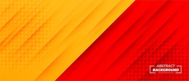 Gelber und roter moderner abstrakter hintergrund