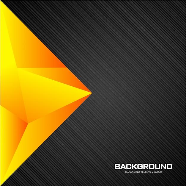 Gelber und schwarzer hintergrund der geometrie