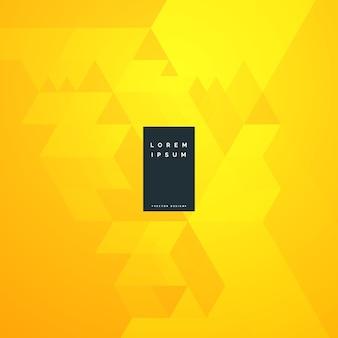 Gelbes abstraktes minimales hintergrunddesign