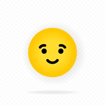 Gelbes emoji-symbol. freude. lachende emojis. glückliches gesicht mit lächeln emoticon. chatten, kommentieren.