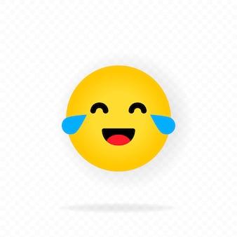 Gelbes emoji-symbol. lachende emojis. glückliches gesicht mit lächeln emoticon. chatten, kommentieren