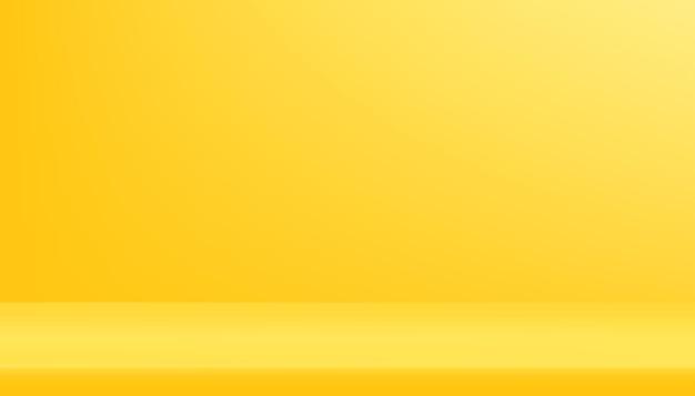 Gelbes galerieraumkonzept