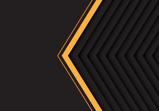 Gelbes graues pfeilmuster mit schwarzem leerstellehintergrund.