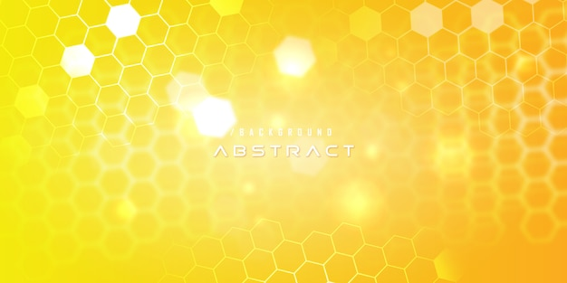Gelbes hexagon-moderner technologie-hintergrund