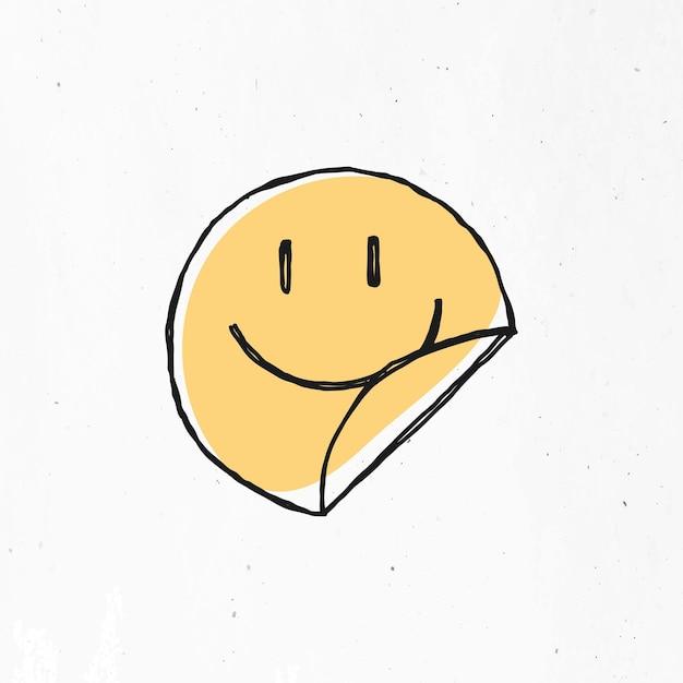 Gelbes lächelndes gesichtssymbol
