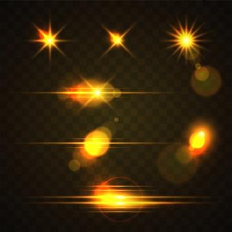 Gelbes lichteffekt