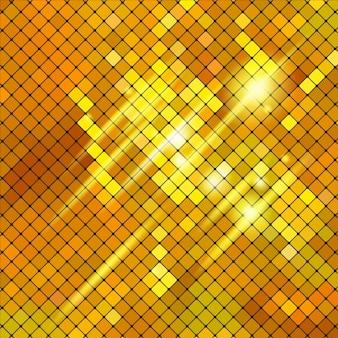 Gelbes mosaik-hintergrund