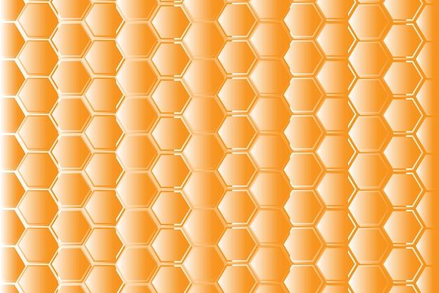 Gelbes sechseckiges wabenmaschenmuster