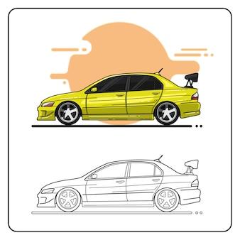 Gelbes sportwagen