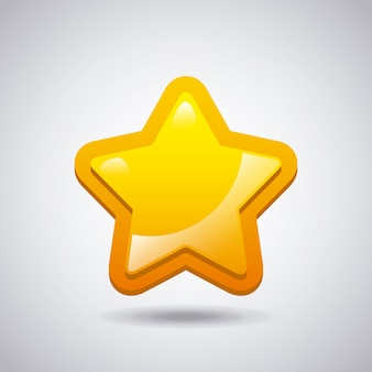 Gelbes sternsymbol