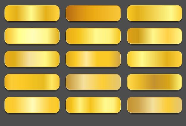 Gelbgold-farbverläufe goldene metallic-farbverläufe