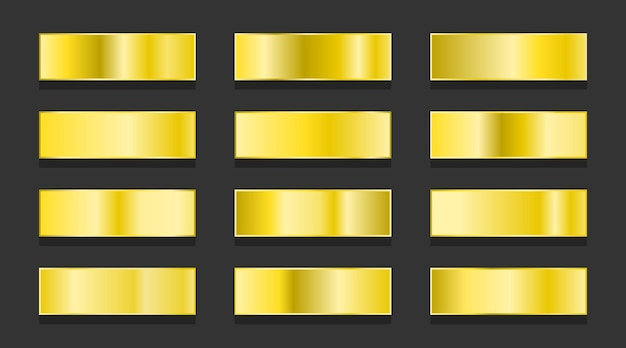 Gelbgold-farbverläufe metallische farbverläufe eingestellt