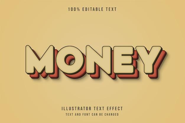 Geld, bearbeitbarer roter gradationseffekt des braunen grad-effekts 3d