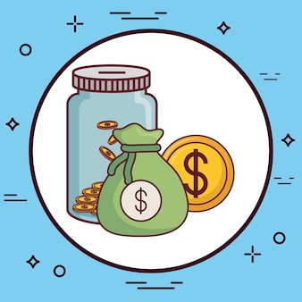 Geld bezogene symbole