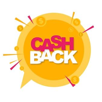 Geld-cashback-hintergrund mit golddollar-münzen