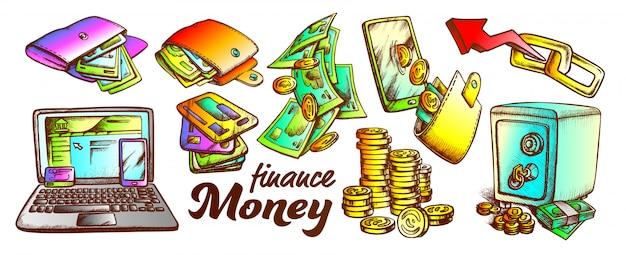 Geld finanzen sammlung