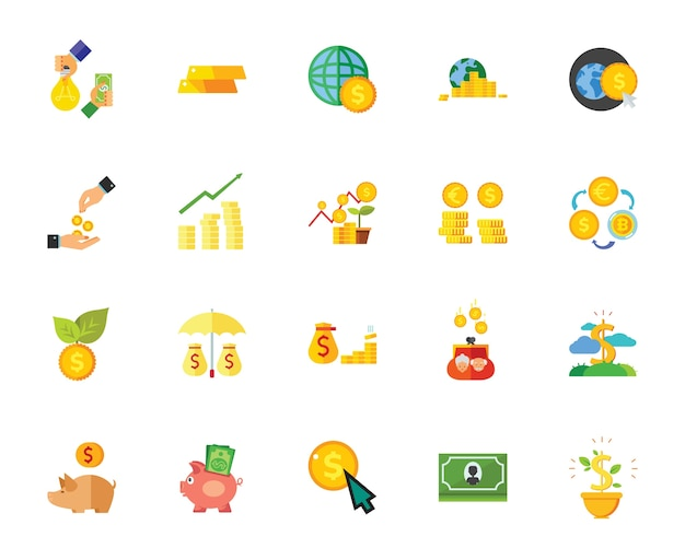 Geld-icon-set