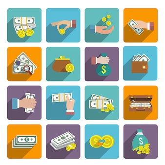 Geld icons set