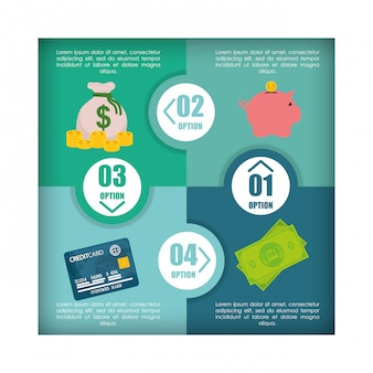 Geld infographik design.