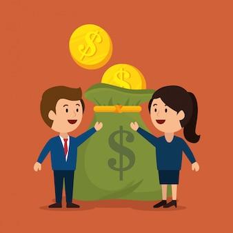 Geld konzept design